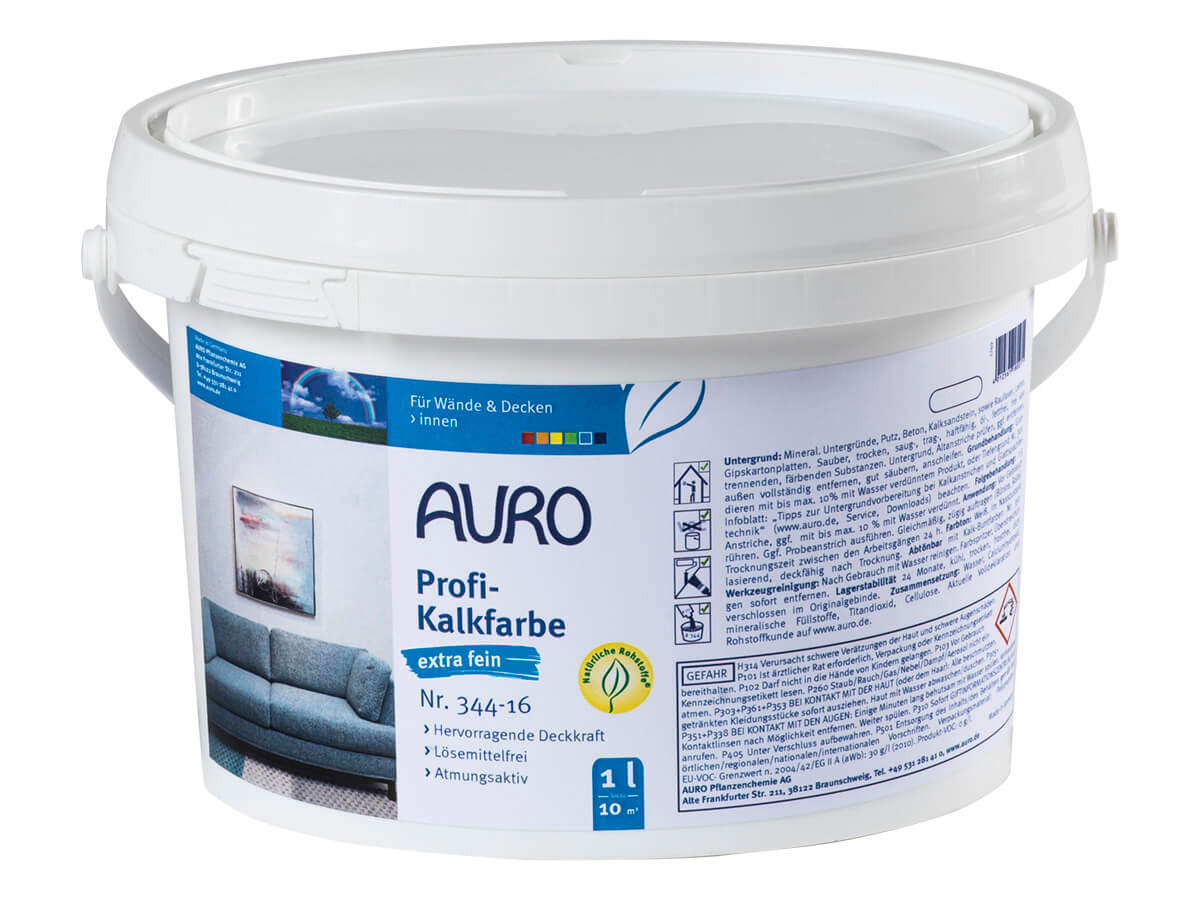 AURO Profi-Kalkfarbe extra fein Nr. 344-16 1,00L