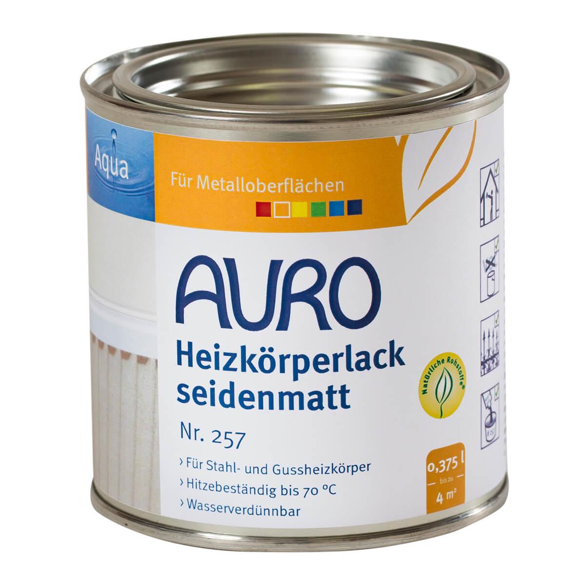 AURO Heizkörperlack, seidenmatt Nr. 257 - 0,375L