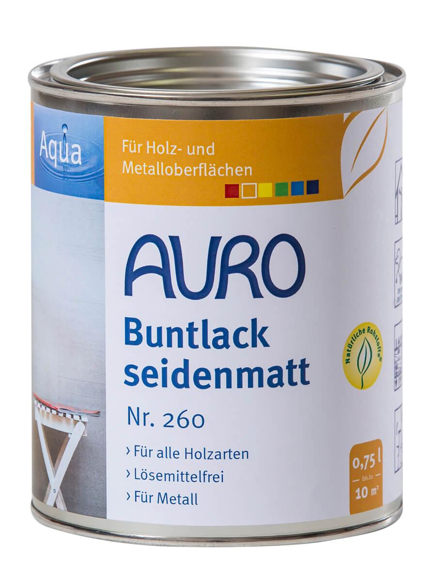 AURO Buntlack und Weißlack, seidenmatt, Aqua Nr. 260 Weißlack, Aqua 0,75L