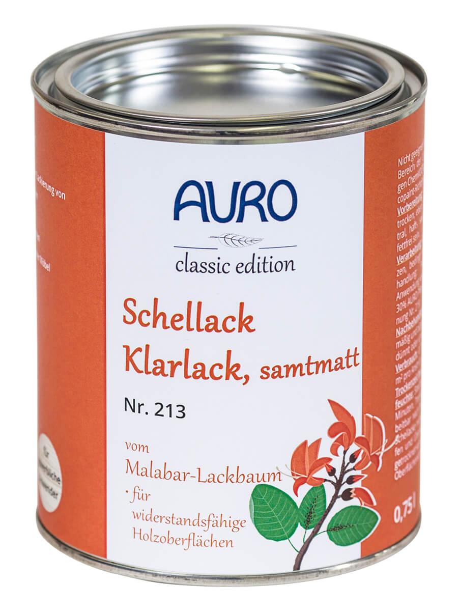 AURO Schellack-Klarlack samtmatt Nr. 213 - 0,75 L