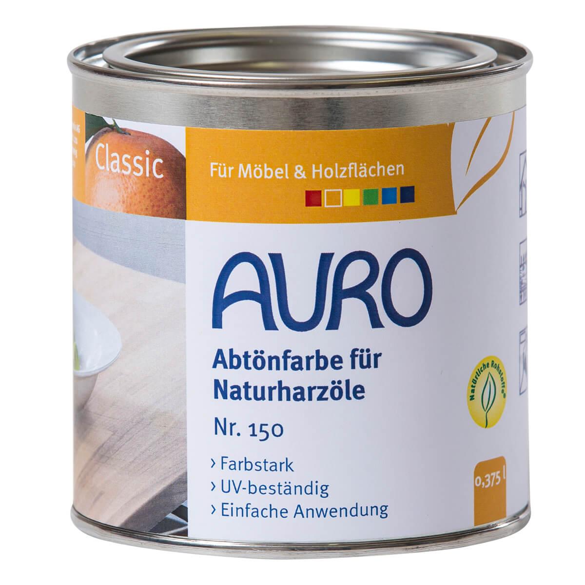 AURO Abtönfarbe für Naturharzöle Nr. 150 Erd-Schwarz