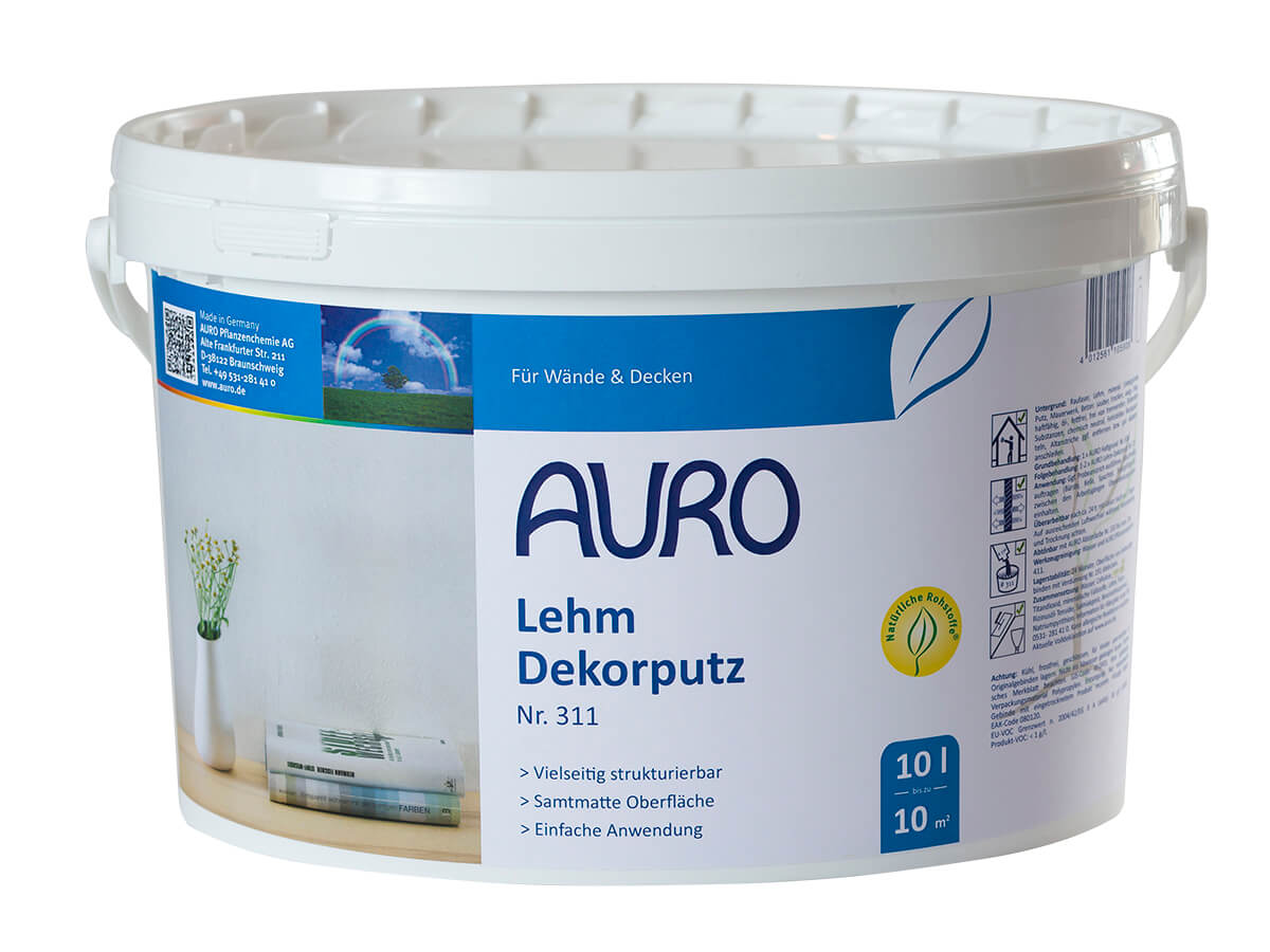 AURO Lehm-Dekorputz Nr. 311 - 10 L