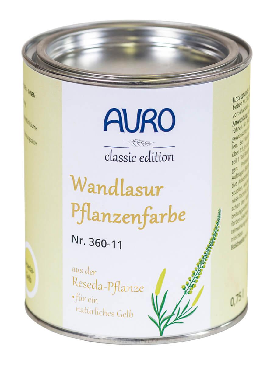 AURO Wandlasur-Pflanzenfarben Nr. 360 0,75L Reseda-Krapp-Orange