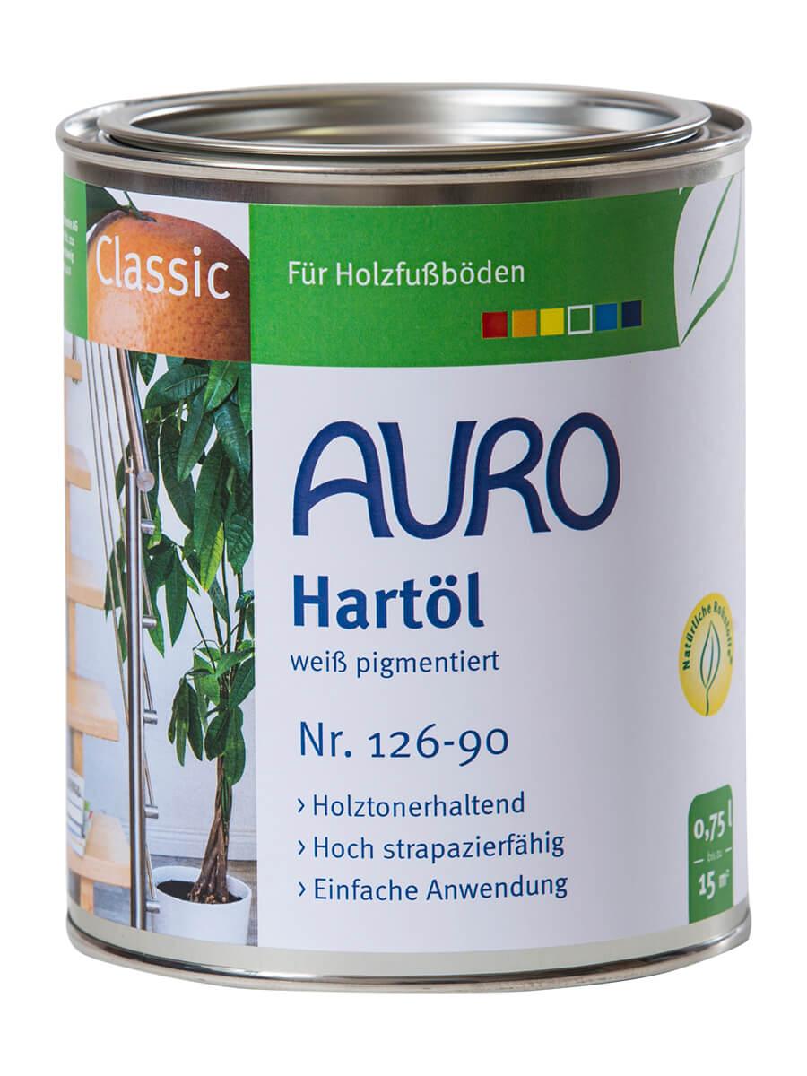 AURO Hartöl-Weiß pigmentiert Nr. 126-90 0,75L