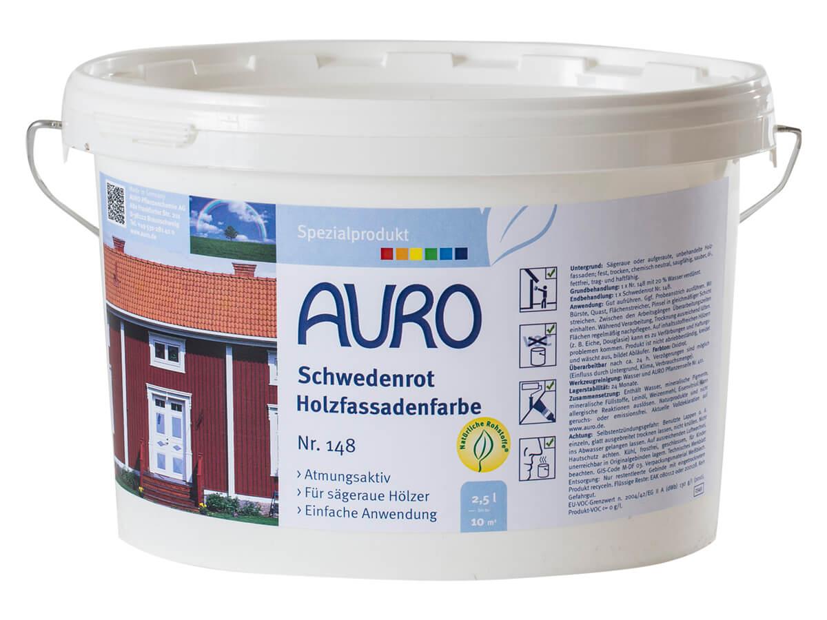 AURO Schwedenrot Holzfassadenfarbe Nr. 148 2,50L