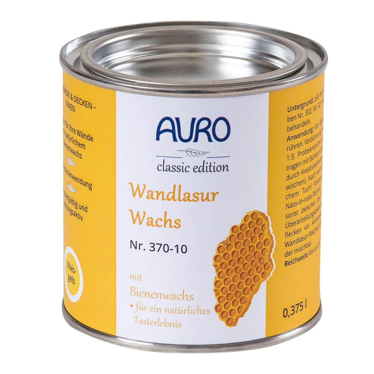 AURO Wandlasur-Wachs Nr. 370 0,375L Pistazie