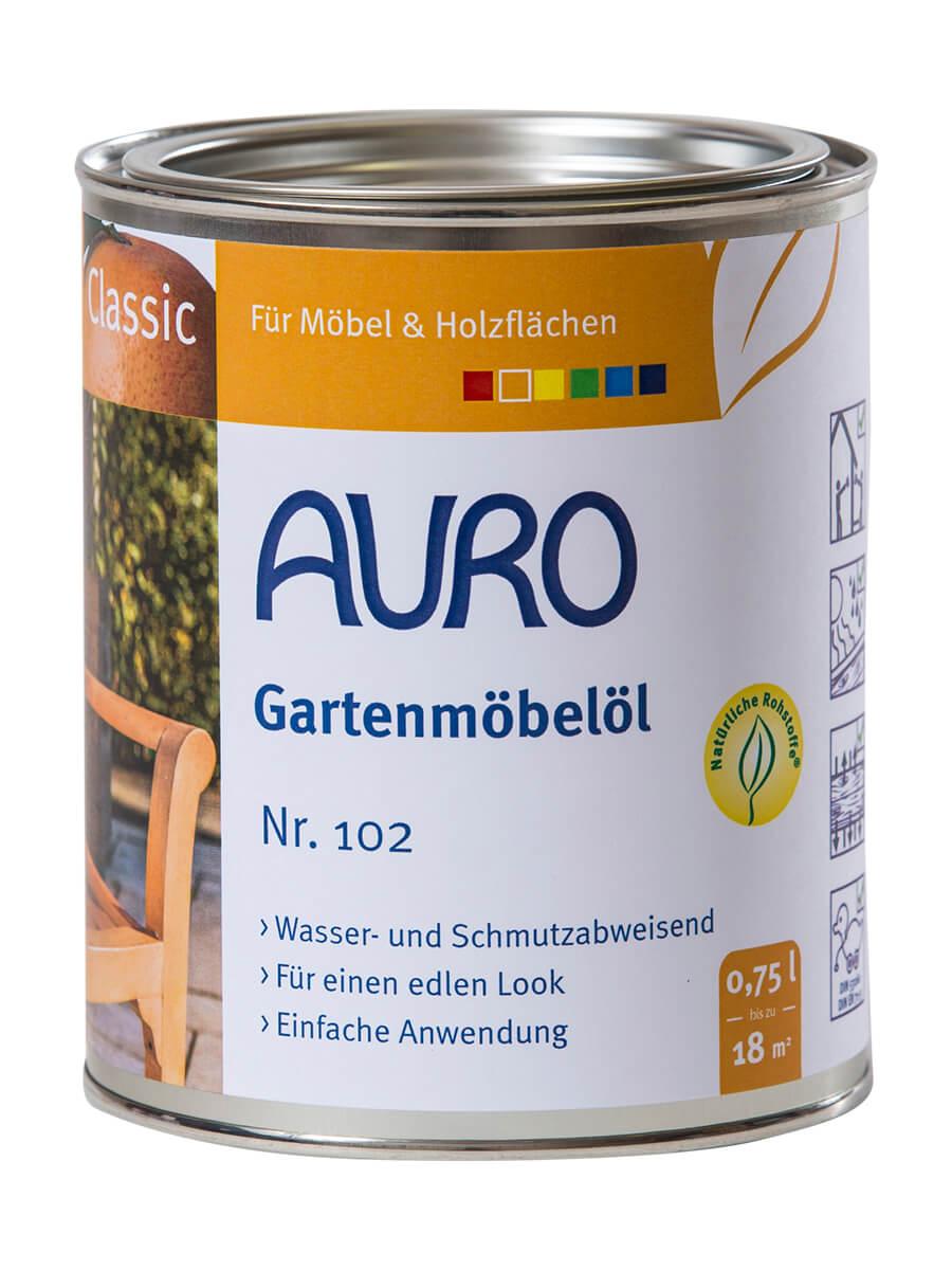 AURO Gartenmöbelöl / Teaköl Classic Nr. 102 - 0,75 L Bangkirai 102-85