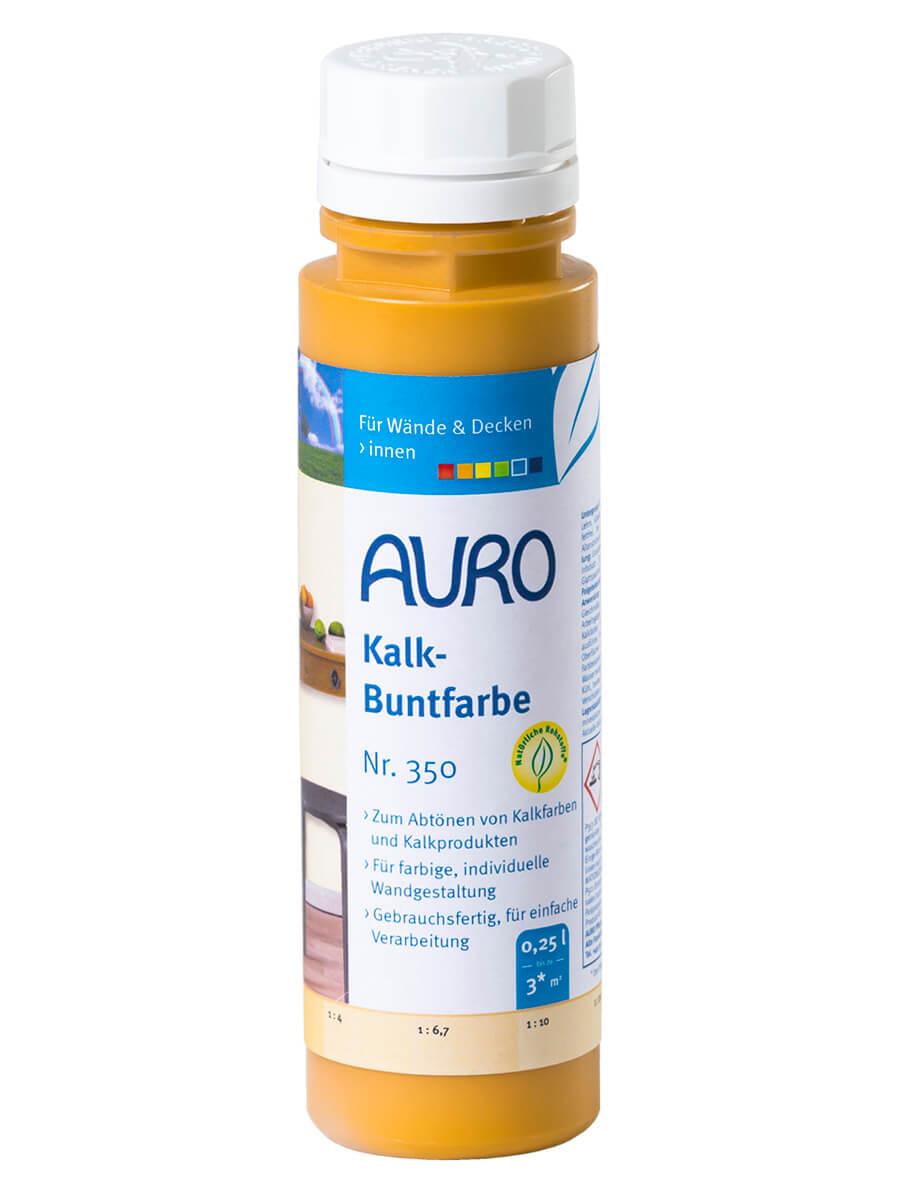 AURO Kalk-Buntfarbe Nr. 350 0,25L Ocker Gelb
